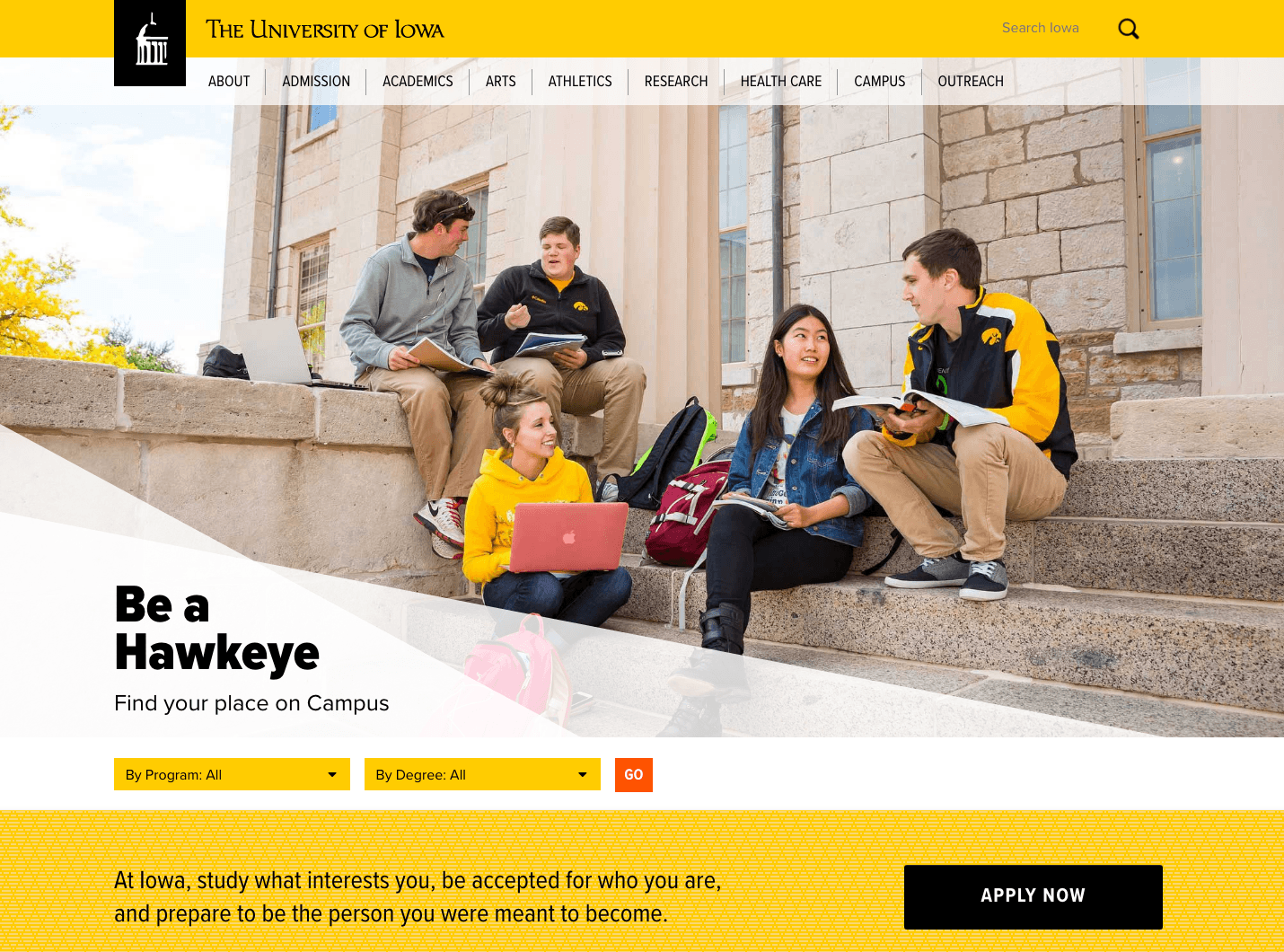 University of Iowa Home Page Redesign Version 2