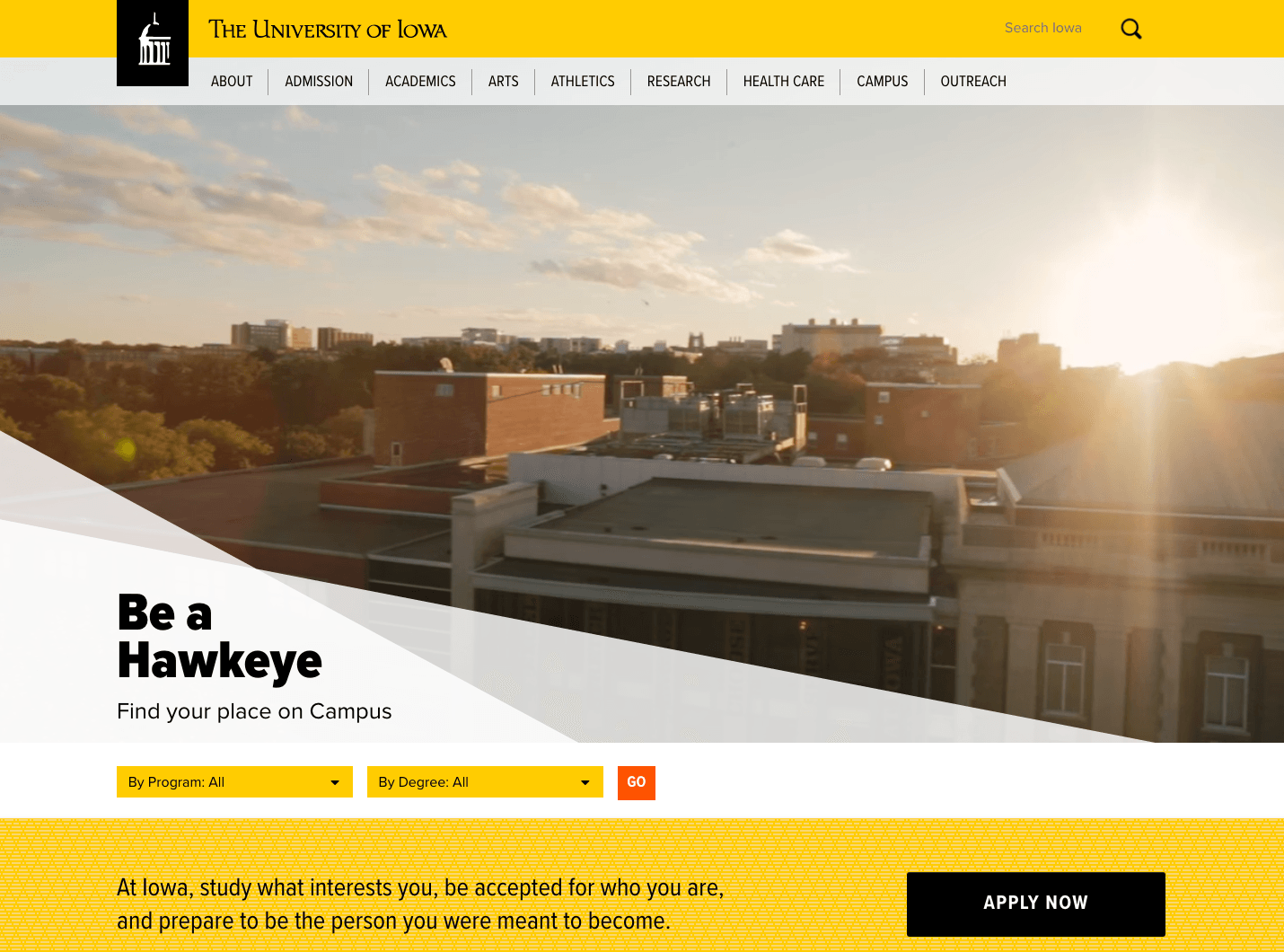University of Iowa Home Page Redesign Version 3