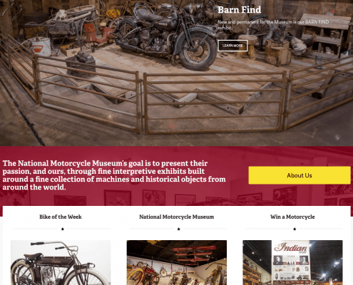Homepage of the National Motorcycle Museum Website