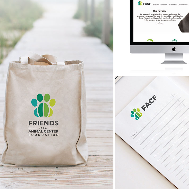 Friends of the Animal Center Foundation Initial Branding and Logo Design