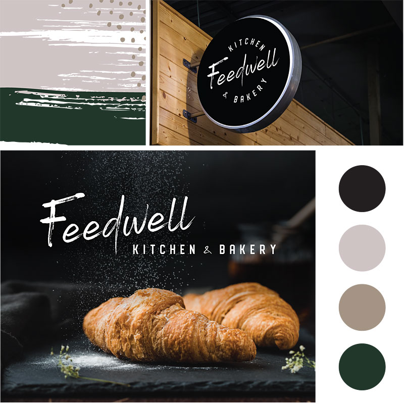 Feedwell Kitchen and Bakery Initial Branding and Logo Design