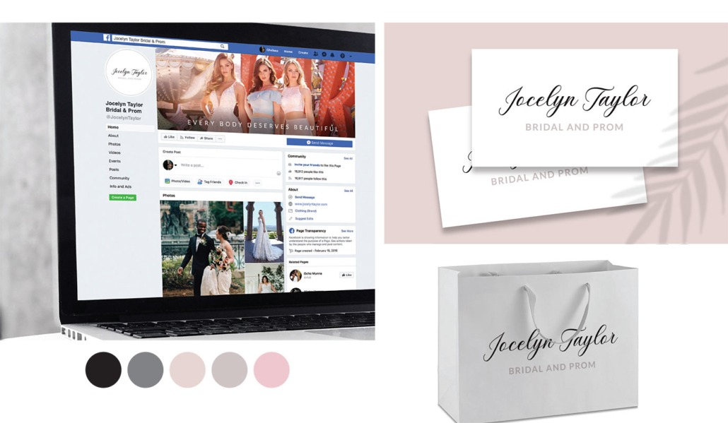 Jocelyn Taylor Bridal and Prom Initial Branding and Logo Design